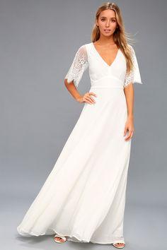 Daphne White Lace Maxi Dress 1
