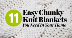 11 Easy Chunky Knit Blankets You Need In Your Home
