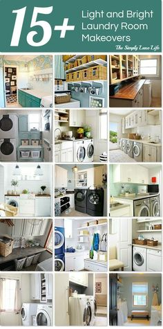 Over 15 light and bright laundry room makeovers