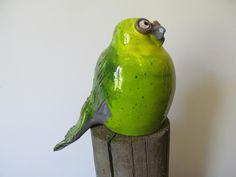 #12 - Kakapo - $79 Old Fashioned Sweet Shop, Julie Lee, Fruit Ice Cream, Ceramic Birds, Pottery, Ceramics, Sculpture, House, Art