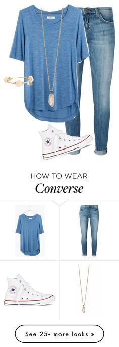 """""""Untitled #96"""" by preppy123 on Polyvore featuring Current/Elliott, Madewell, Converse, Zoya and Bourbon and Boweties"""