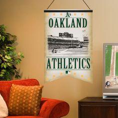 Oakland Athletics 17'' x 26'' Premium Quality Felt Stadium Banner - $19.99