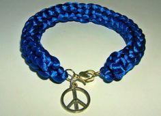 Pulsera i-cord Azul paz