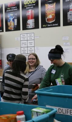 Food Bank of the Rockies made it easy to volunteer with large posters showing what to look for and which category need which items. It was great to work with such upbeat people!