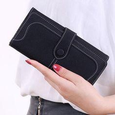 Toraway Wallet Women British Flag Pattern Long Purse Leather Wallet Clutch Bags Beige