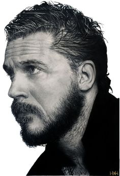 Tom Hardy Graphite Drawing by Nathan Hill