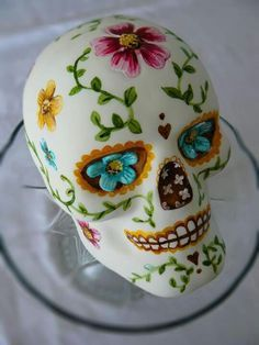 Beautiful sugar skull cake. Mmmmmm!