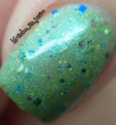Flower Blossoms   Soft Green with holographic by MDJCreations, $8.75
