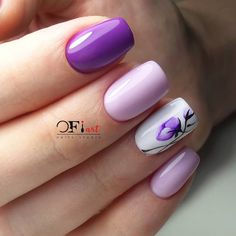 Nail Designs and Ideas for Purple Acrylic Nails Purple Acrylic Nails, Violet Nails, Summer Acrylic Nails, Best Acrylic Nails, Purple Nails, Spring Nails, Classy Nails, Stylish Nails, Cute Nails