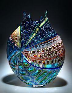 Vase - Blown Glass, designed by D. Patchen - art glass. LO                                                                                                                                                     Mehr