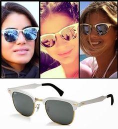 Fábula Chic: Pra Você! Óculos Ray Ban Clubmaster Aluminum