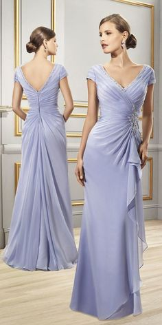 Unique Prom Dresses, Chic Chiffon Sheath V-neck Cap Sleeves Floor-length Mother of the Bride Dresses, There are long prom gowns and knee-length 2020 prom dresses in this collection that create an elegant and glamorous look Mob Dresses, Fashion Dresses, Formal Dresses, Wedding Dresses, Chiffon Dresses, Sheath Dresses, Mother Of The Bride Dresses Long, Mothers Dresses, Long Prom Gowns