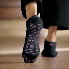 Gaiam All Grip Yoga Socks Pink Dots SmallMedium by Gaiam new 999 812 7 used new from the Most Wished For in Active list for authoritative information on this products current rank Pilates Socks, Pilates Body, Yoga Socks, Barre Socks, Running Socks, Workout Gear, No Equipment Workout, Workouts, Fitness Equipment