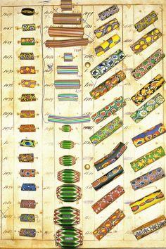 Trade Bead Chevrons Vaccari Collection Chevron - Millefiori c 1900.jpg (500×750)
