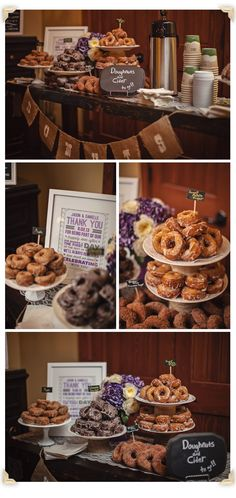 Maine Wedding Photographer/ New England Wedding Photographer Gold Wedding Favors, Wedding Desserts, Fall Wedding, Rustic Wedding, Our Wedding, Dream Wedding, Fall Mountain Wedding, Wedding Ideas, Donut Bar Wedding