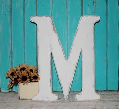 wooden letter m distressed wood letters 24 inch letters guest book photo props