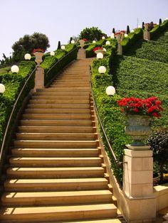 Bahai gardens, Haifa Israel - detail