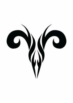 Not a huge fan of tribal tats, but this aries symbol is pretty rad...