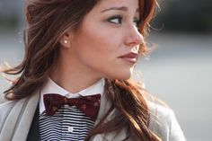 bow ties for girls images | Girls Can Rock a Bow Tie Too! | Men's Fashion & Style Blog | Fashion ...