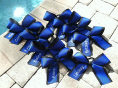 Cheerleading team cheer hair bow personalized w/ by PreppyPinkies, $7.50