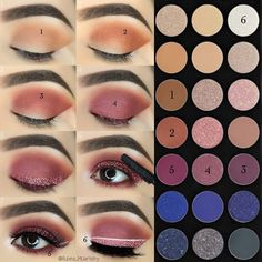"Trendy Eye Makeup Tutorial Morphe History of eye makeup ""Eye care"", Paleta Morphe, Morphe Eyeshadow, Makeup Morphe, Morphe Palette, Eyeshadow Looks, Eyeshadows, Eyeshadow Makeup Tutorial, Simple Eyeshadow Tutorial, Blue Eyeshadow"