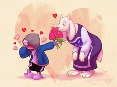 I don't usually ship sans and toriel but this is too cute Undertale Toriel, Undertale Ships, Undertale Pictures, Undertale Drawings, Sans And Toriel, Best Rpg, Sans Cute, Pokemon, Games