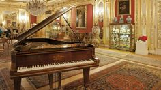 The beautiful Steinway piano in the Gold Room at Polesden Lacey