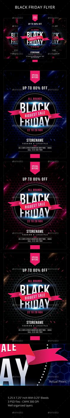 Buy Black Friday by sunilpatilin on GraphicRiver. Black Friday Flyer Black Friday Flyer is designed for all kind of events! The flyer is fully layered and organized to. Flyer Design Inspiration, Promotional Flyers, Psd Flyer Templates, Sale Flyer, Business Flyer, Black Friday, Blog, Banner, Commerce