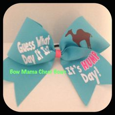 Cheer Bow by BowMamaCheerBows on Etsy, $10.50
