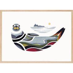 Ce phoque offre un effet de paysage mélangé à son corps à couper le souffle. Cette affiche permet de se démarquer par son originalité! Art Haïda, Art Inuit, Seal Tattoo, 3d Printing Business, Haida Art, Animal Silhouette, Canadian Art, Indigenous Art, First Art