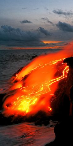 Lava, Kilauea Hawaii Been there. It's so beautiful, especially at night.