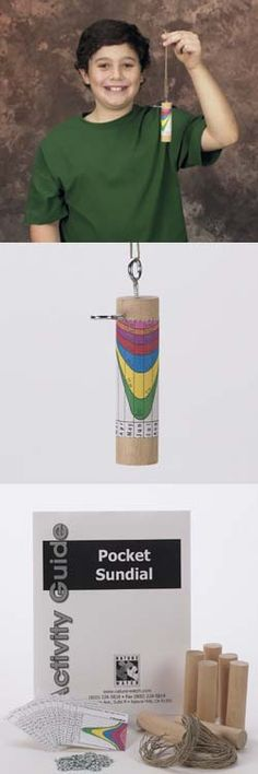 Pocket sundial craft - Daytime astronomy or nighttime take-away? Could also build a giant one at camp :D