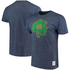 Notre Dame Fighting Irish Original Retro Brand Vintage School Logo Mock Twist T-Shirt - Navy