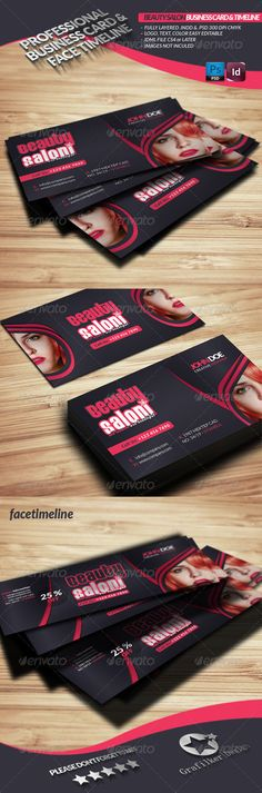 97 best print templates images on pinterest print templates buy beauty salon business card face timeline by grafilker on graphicriver reheart Gallery