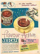 Original NESCAFE COFFEE AD NESTLE 1958 Australian Vintage Print Advertising SSV