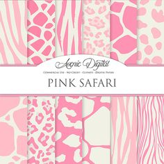 Pink Animal Prints Digital Paper