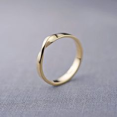 Smooth simple rose gold wedding bands By Lily Emme http