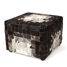 Nguni Patchwork Cube Stool