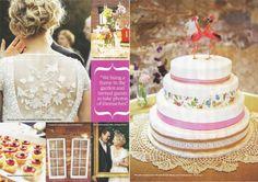Chris & Nicole's Vintage Wedding as seen in Cosmo/Bride [Double Splash bow tie and chief]