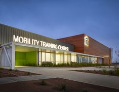 Image 2 of 14 from gallery of The Regional Transportation Commission of Southern Nevada Mobility Training Center / Gensler. Photograph by Gensler Amazing Architecture, Architecture Design, Nevada, Regional, Canada House, Cladding Systems, Bamboo Garden, New Bus, Training Center