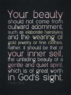 1 Peter 3: 3-4