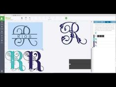 Create your own split monogram with slice and weld - Cricut Design Space - YouTube