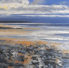 "Toward Treyarnon by John Brenton oil on canvas 36"" x 36"" www.panterandhall.com"