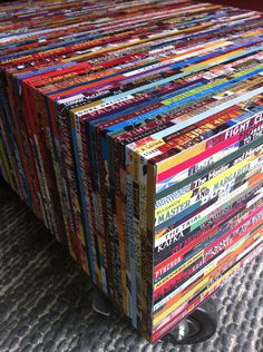 Book Lover End Table (imprinted with the titles of your 50 favorite books)
