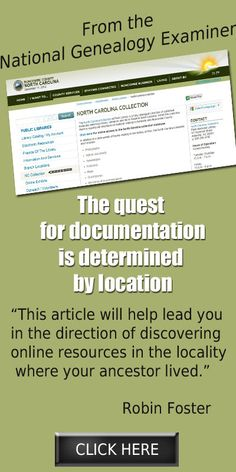 New article! The quest for documentation is determined by location via @Robin S. S. S. S. Foster: #Genealogy & More http://www.examiner.com/article/the-quest-for-documentation-is-determined-by-location