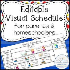FREEBIE Editable Visual Schedule prefect for parents and homeschoolers.   Back on Schedule: An A+ Way to Start the Year Right | Line upon Line Learning