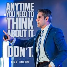 Grant Cardone is a New York Times bestselling author, international speaker, business innovator, social media personality and top sales trainer in the world. Real Estate Leads, Real Estate Tips, Selling Real Estate, Real Estate Investing, Grant Cardone, Business Card Case, Learning To Be, Lead Generation, How To Stay Motivated
