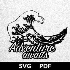 SVG / PDF cut file Paper Cutting Template Adventure Awaits