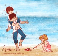 Wolf has 99 problems and they're all Thorne.  For TLC Ship Weeks - Mini Ship Week Day six: Beach