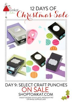 Paper Crafting Punches on SALE! shoptomkat.com